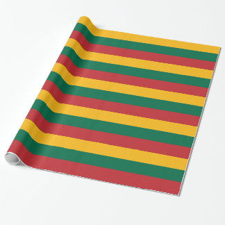 Lithuanian flag wrapping paper