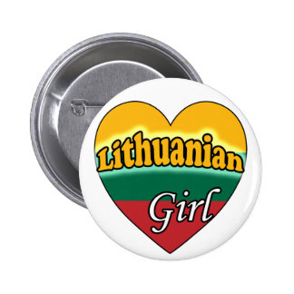 Lithuanian Girl 6 Cm Round Badge