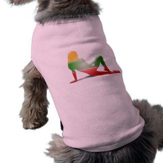 Lithuanian Girl Silhouette Flag Sleeveless Dog Shirt
