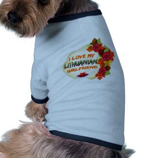 Lithuanian Girlfriend designs Ringer Dog Shirt