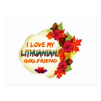 Lithuanian Girlfriend designs Postcard