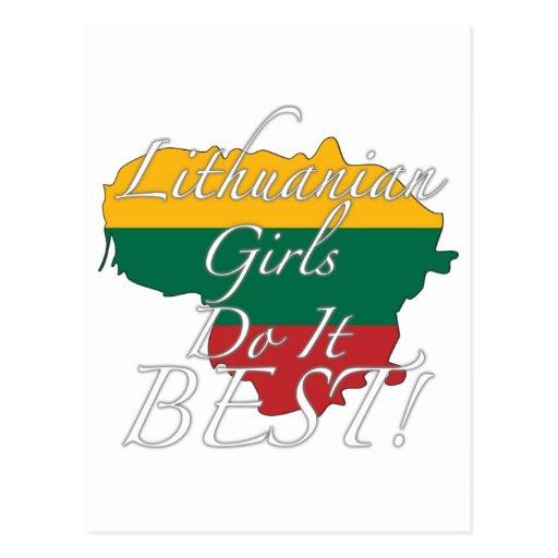 Lithuanian Girls Do It Best! Postcards