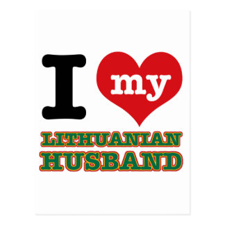 Lithuanian I heart designs Postcard