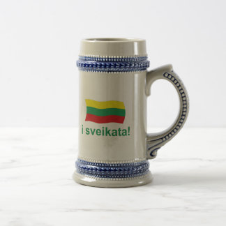 Lithuanian i sveikata! (Cheers!) Beer Stein