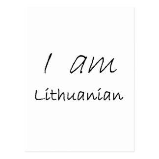 Lithuanian jpg post card