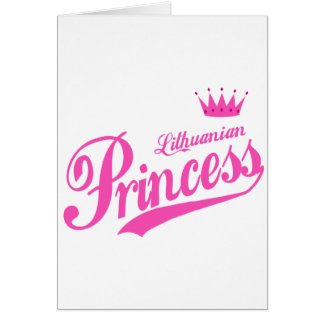 Lithuanian Princess Greeting Card