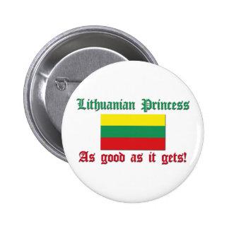 Lithuanian Princess - Good As 6 Cm Round Badge