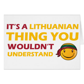LITHUANIAN smiley design Greeting Card
