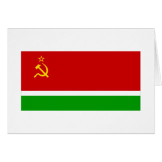 Lithuanian SSR Flag Greeting Card