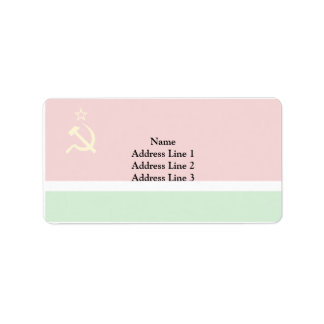 Lithuanian Ssr, Lithuania flag Address Label
