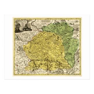 LithuaniaPanoramic MapLithuania Postcard
