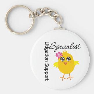 Litigation Support Specialist Chick Keychain