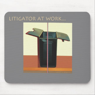 Litigator at Work Mousepad for Lawyers Attorneys