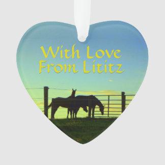 Lititz Ornament! Farm Life! Come Back Soon on Back Ornament