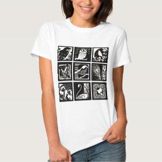 Lito birds - Birds Etching Shirts