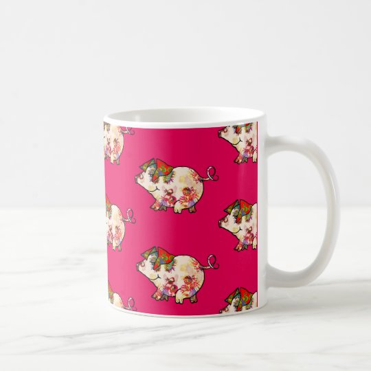 Litte Cosmic Love Pig Coffee Mug