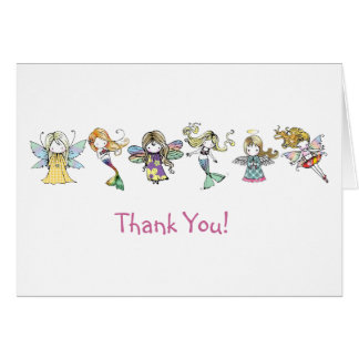 Litte Cuties Fairy Mermaid Angel Thank You Card