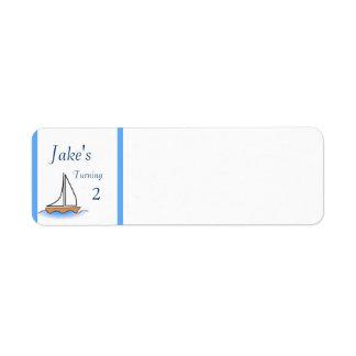 Litte Sailboat Nautical Birthday