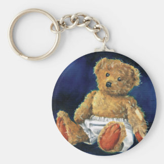 Little Acorn, a Favourite Teddy Basic Round Button Key Ring