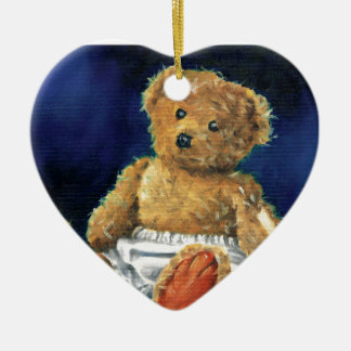 Little Acorn, a Favourite Teddy Ceramic Heart Decoration
