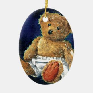 Little Acorn, a Favourite Teddy Ceramic Oval Decoration