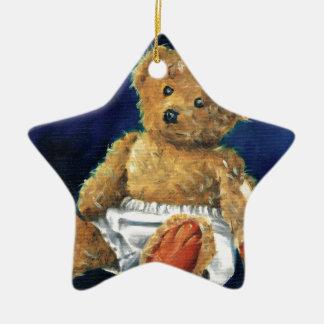 Little Acorn, a Favourite Teddy Ceramic Star Decoration