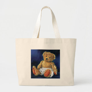 Little Acorn, a Favourite Teddy Large Tote Bag