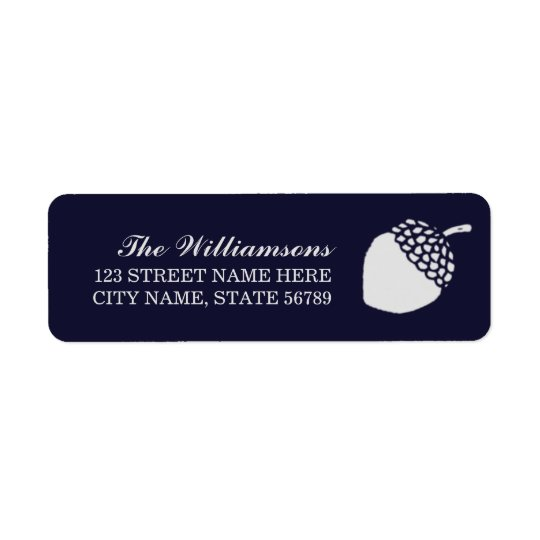 Little Acorn Holiday Return Address Labels