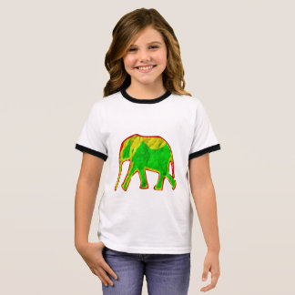 Little african elephant ringer T-Shirt