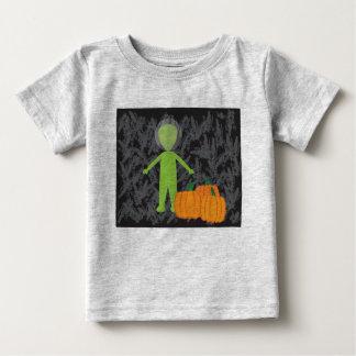 Little Alien with Pumkins T Shirt