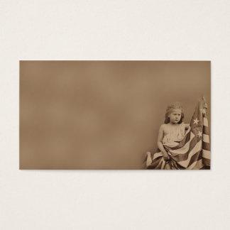 Little Americana Girl- Prim Biz Cards