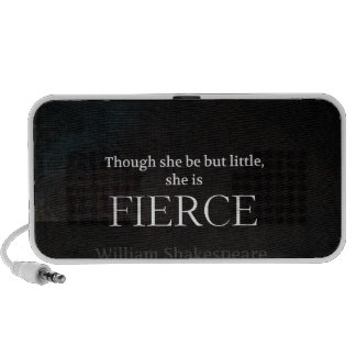 Little and Fierce Shakespeare quote iPod Speakers