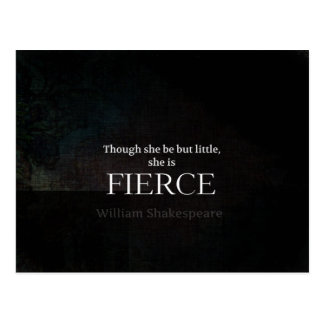 Little and Fierce Shakespeare quote Postcard