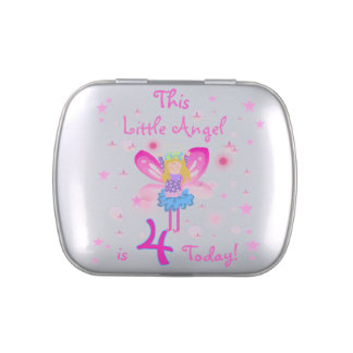 Little Angel 4th Birthday Candy Tins and Jars