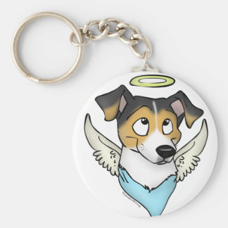 Little Angel Basic Round Button Key Ring