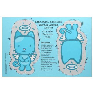 Little Angel...Little Devil Kitty Cat Doll Kit Fabric