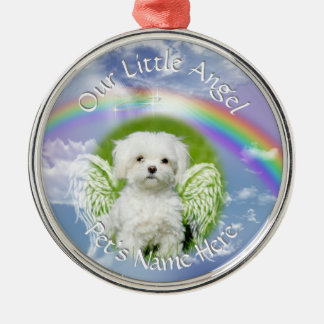 Little Angel Pet Photo Memorial Christmas Ornament