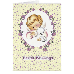 Little Angel With LambChristian Easter Cards