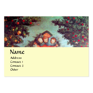 LITTLE ANGELS MONOGRAM antique blue red yellow Business Cards