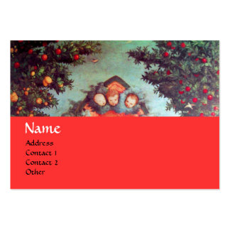 LITTLE ANGELS MONOGRAM antique blue red yellow Pack Of Chubby Business Cards