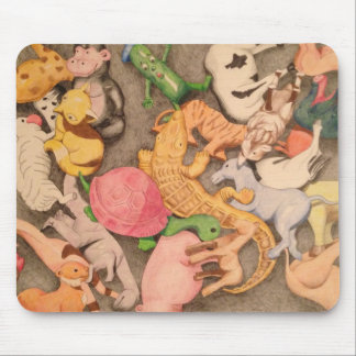 Little Animals illustrated mousepad