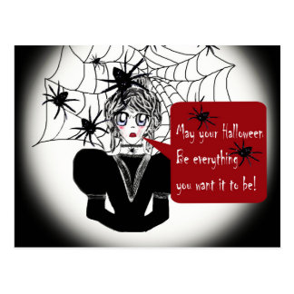 Little Anime Spider Woman Postcard