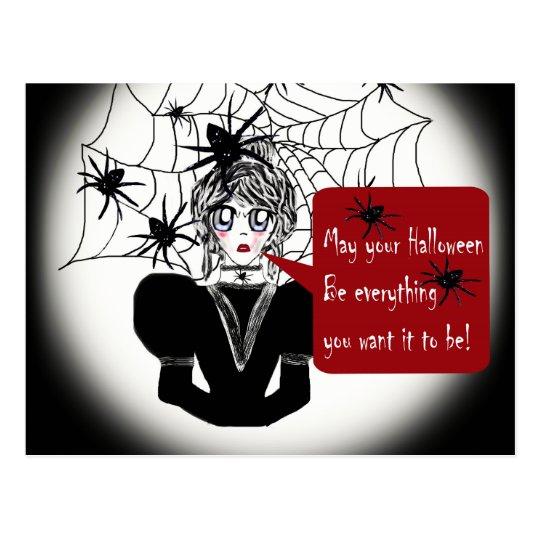Little Anime Spider Woman Postcard