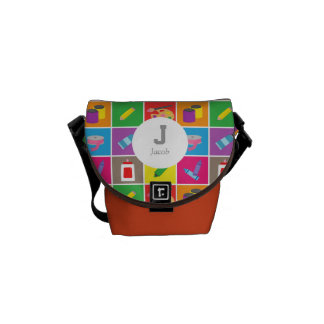 Little Artist Arts Crafts Colourful Pattern Kids Courier Bags