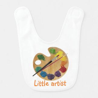 Little artist colorful palette rainbow color wheel bib