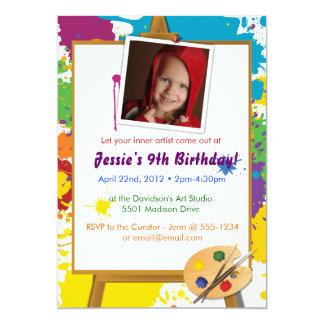 Little Artist's Birthday 5x7 Paper Invitation Card