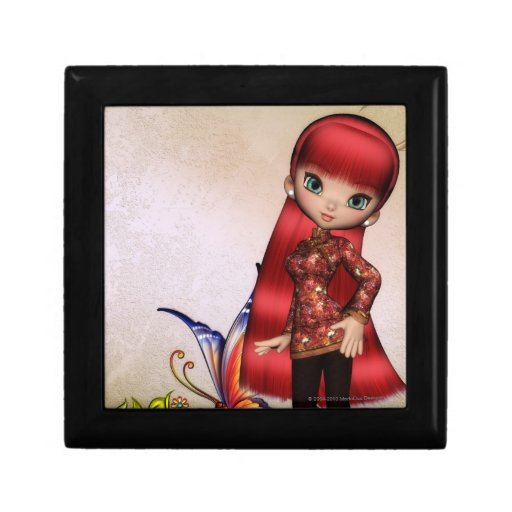 Little Asian Girl 2 Fantasy Artwork Jewelry Box