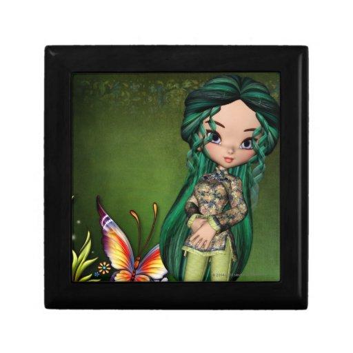 Little Asian Girl 7 Fantasy Artwork Jewelry Box