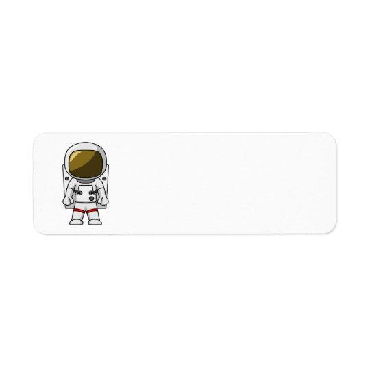 Little Astronaut & Spaceship Birthday Return Address Label