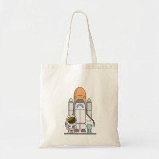 Little Astronaut & Spaceship Budget Tote Bag